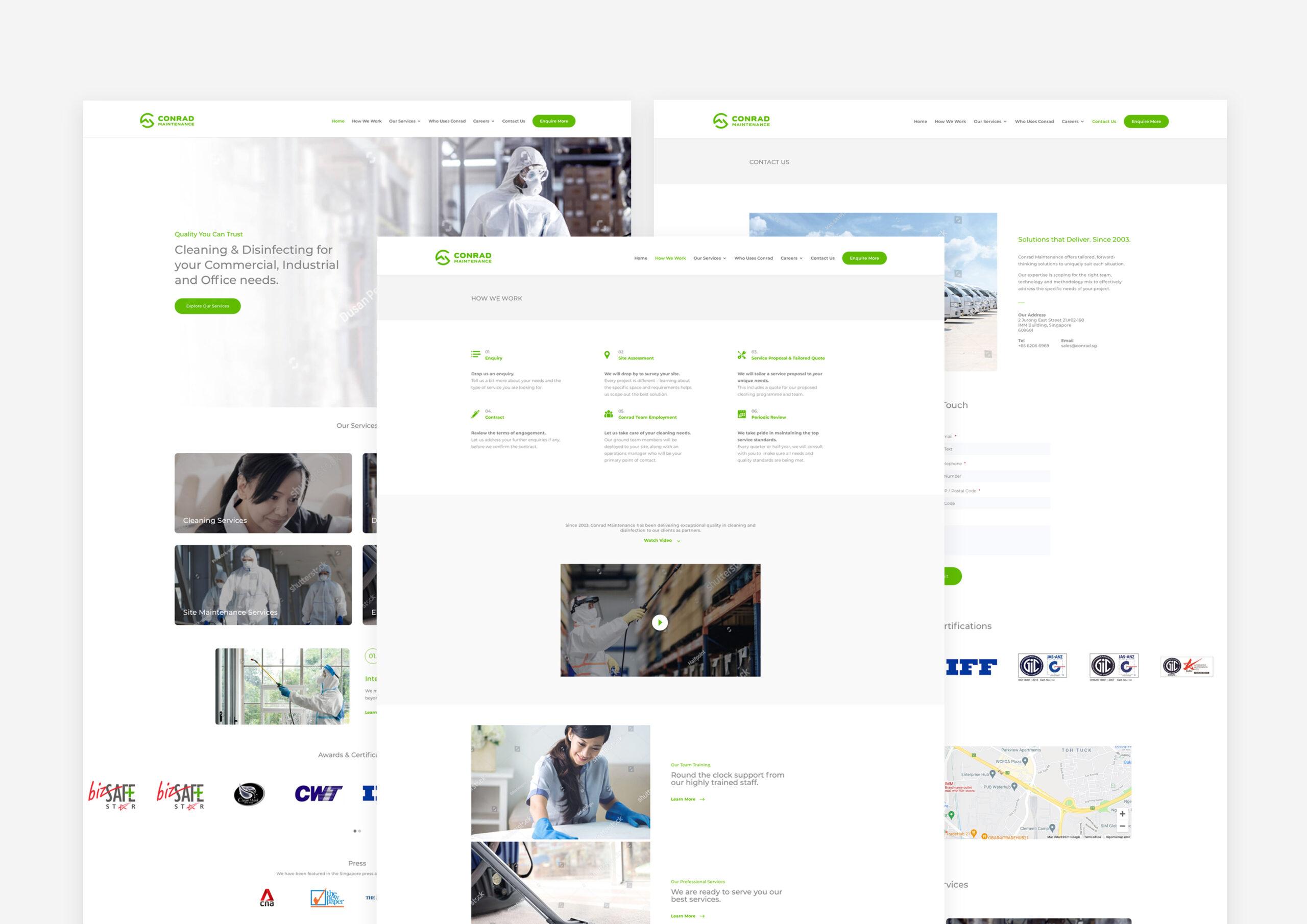 Rebranded Website Pages