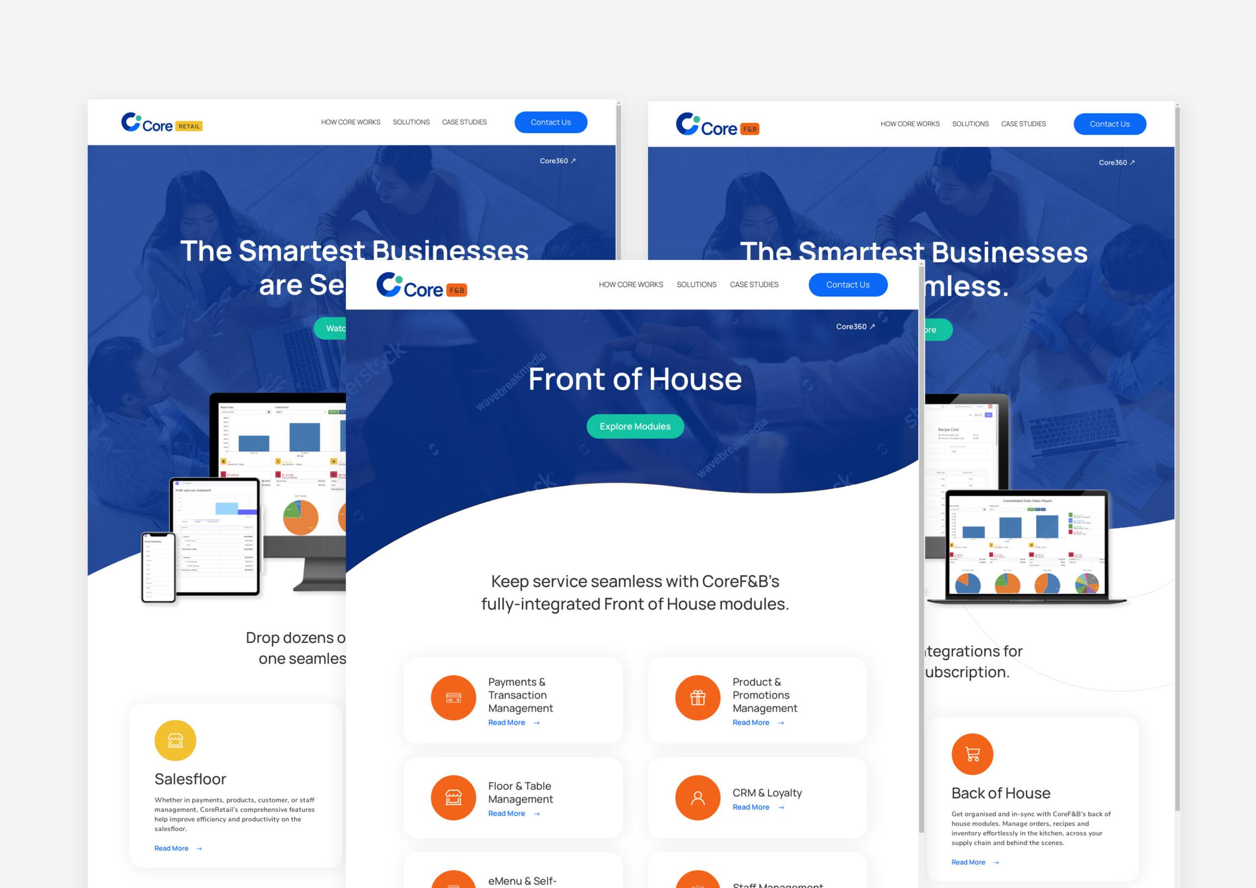 Core360 Website Rebranding